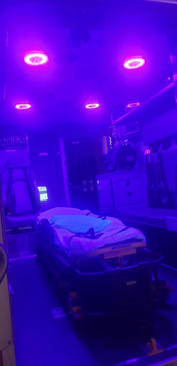 Patient Compartment Blue Light Disinfection