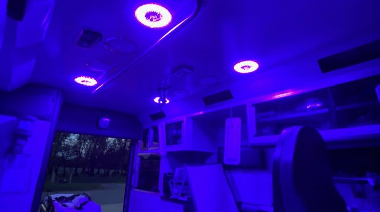 Patient Compartment Blue Light